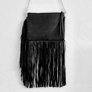 Long Fringe Tassel Clutch Bag